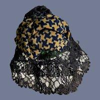 Old Crochet Lace Doll Hat Bonnet