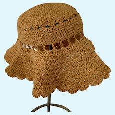 Old Doll Crochet Floppy Hat Bonnet