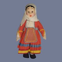 Vintage Doll Cloth Doll Felt Sweet Size