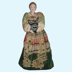 Old Doll Ann of Clave HenryVIII Wife Sculpted