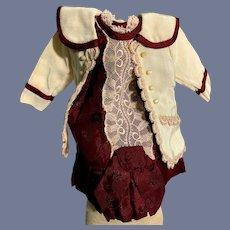 Wonderful Doll Dress Two Piece Jacket and Dress Petite Doll
