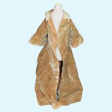 Wonderful Old Fashion Doll Coat W/ Bell Sleeves and Glass Buttons Charming Duster