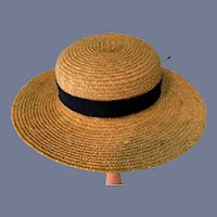 Beautiful Straw Doll Bonnet Hat With Wide Brim