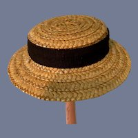 Sweet Straw Hat Bonnet W/ Fancy Bow