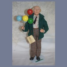 Vintage Doll Betsey Baker The Balloon Man #2  Member of O.D.A.C.A. Character Doll