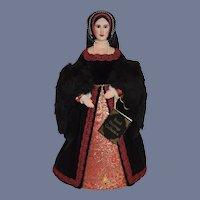 Vintage Doll Anne Boleyn Queen of England Second Wife of King Henry VIII By Artist Brenda Price