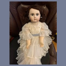 Wonderful Doll Dress and Crochet Gloves  For French Doll Sweet