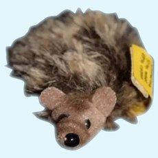 Original Steiff Stuffed Hedge Hog Miniature W/ Button Tag EAN 1670/06