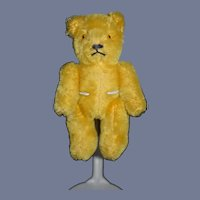 Vintage Teddy Bear Jointed Yellow Charming Petite