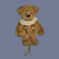 Anything Goes Anna Maria Tu Brown Stuffed Bear Petite Artist Teddy Bear Jointed Mohair