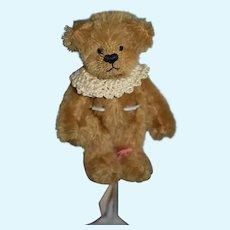 Anything Goes Anna Maria Tu Brown Stuffed Bear Petite Artist Teddy Bear Jointed Mohair