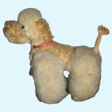 Old Petite Poodle Dog Jointed Miniature Doll Companion