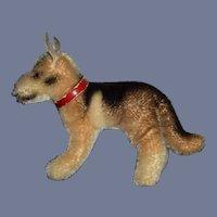 Old Mohair German Shepherd Dog W/ Collar Steiff? Doll Size Petite