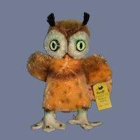 Original Steiff Owl 2620/10 Wonderful Perfect For Doll W/ Tags