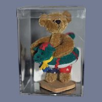"Wonderful Miniature Jointed Artist Teddy Bear W/ Floatie ""JACK"" by Deborah Canham Original case W/ COA"