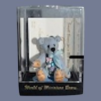Miniature Teddy Bear Signed W/ Original Case LITTLE GEM and COA Adorable for Doll