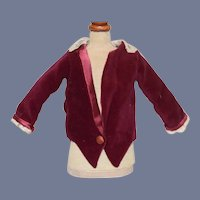 Sweet Velvet Doll Jacket Coat Lace Trim
