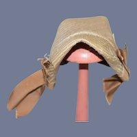 Sweet Artist Made Doll Bonnet Straw Type