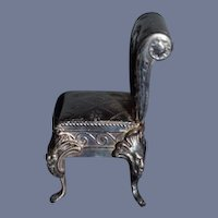 Sweet Miniature Doll Chair Metal Ornate Dollhouse