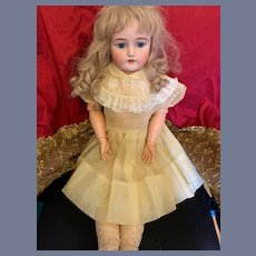 "Antique Doll Bisque CM Bergmann Simon Halbig 30"" Tall"