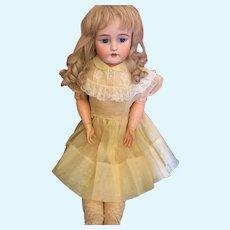 "Antique Doll Bisque CM Bergmann Simon Halbig 30"" Tall"