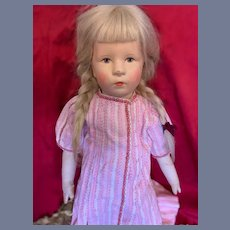 Old Cloth Doll VEB Bad Kosen Made in East Germany