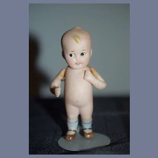 Antique Doll All Bisque Miniature Character Doll Baby Bud