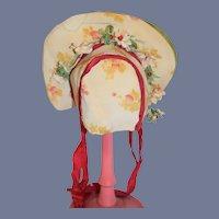 Wonderful Doll Bonnet Floral Hat Gorgeous