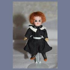 Antique Doll Miniature French Market Swivel Neck Dollhouse