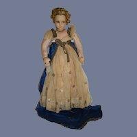 Wonderful Old Cloth Doll Empress Josephine of France Lenci Type Princess Original Clothes Wonderful