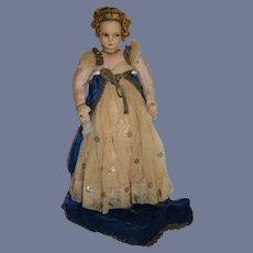 Wonderful Old Cloth Doll Lenci Type Princess Original Clothes Wonderful