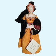 Artist Doll Teresa Thompson in Court Dress In the Reign of Henry VIII Cloth Doll
