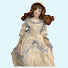 Antique Doll Bisque French Poupee Gorgeous Dressed Fashion Doll Closed Mouth