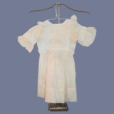 Wonderful Doll Dress Fancy Collar Old