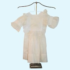 Wonderful Doll Dress Fancy Collar Old
