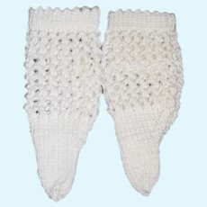 Vintage Hand Made Doll Crochet Socks