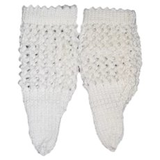 Vintage Hand Made Doll Crochet Socks