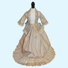 Wonderful Two Piece French Market Doll Outfit Skirt Jacket