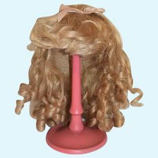 Beautiful Long Curly Blonde Doll Wig