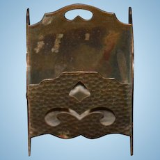 Old Miniature Doll Magazine Rack Book Dollhouse Copper Hammered