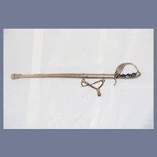Miniature Metal Sword Doll Unusual
