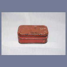 Miniature Red Tin Case and Shovel Doll Dollhouse