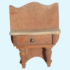 Old Doll Miniature Wood Side Table W/ Drawer