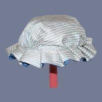 Vintage Sweet Gingham Doll Bonnet Hat