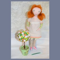 Artist Doll Yuliacrafts Whimsical Cloth Doll