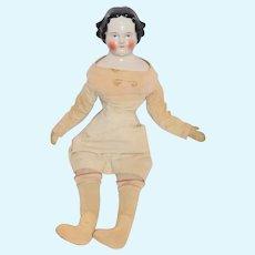 Antique Doll China Head Old Cloth Body Wonderful