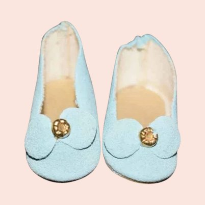 Sweet Pair of Baby Blue Doll Shoes