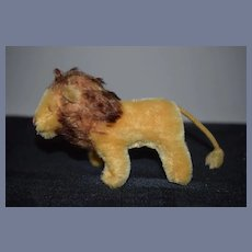 Vintage Mohair Stuffed Lion Petite Doll Size