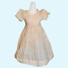 Vintage Cotton Light Pink Short Sleeved Doll Dress Lace