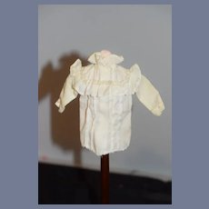 Vintage White Long Sleeved Doll Blouse With Ruffles